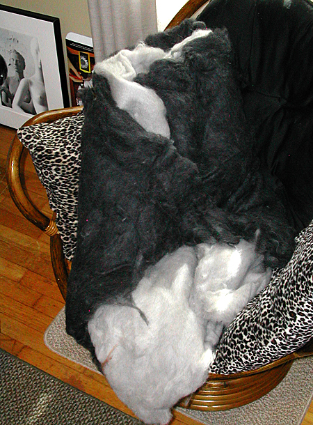 Mohair batts
